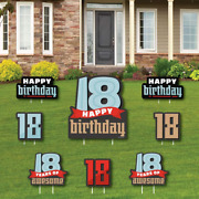Big Dot Of Happiness Boy 18th Birthday - Yard Sign And Outdoor Lawn Decorations