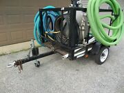Gas Water Pump Pool Cleaner Hayward Pro Series Sand Filter System W/ Trailer