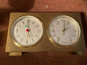 Vintage Semca Electro-cell Clock Change Variable Barometer Made Germany