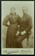Cdv Photo Woman With Soldier Phot. Haartmann Christiania Norway 6316