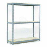 Wide Span Rack With 3 Shelves Wood Deck 900 Lb Capacity Per Level 72w X 30d