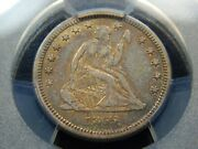 1865-s 25c Seated Liberty Quarter Vf-30 Pcgs Tough Date Nice Color