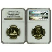 Brunei 1987 Currency Board 100 Gold Proof Coin Ngc Pf68 Ultra Cameo Sku 5565