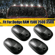 5x Smoked Rooftop Cab White Running Light Drl Led For Dodge Ram 1500 2500 3500
