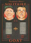 Mickey Mantle Roger Maris President's Choice Solitaire Game Used Jersey 1/1