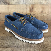 New Sperry Top Sider Mens Size 7 Boat Shoes Sts 21606 Nautical Blue Retail 225