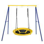 Extra Large 40 Nest Tree Swing Heavy Duty A-frame Steel Swing Stand Set Yellow