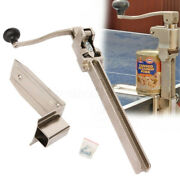 Heavy Duty Manual Commercial Can Opener Food Tank Table Mount Bench Counter