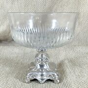 Antique Centrepiece Bowl German Silver Plated Glass Eagles Head Henninger And Co