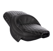 Indian Motorcycle Black Studded Heated Extended Reach Seat For 2014-2020 Chief