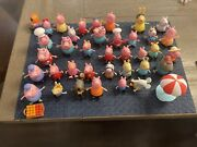 Peppa Pig Toy Lot 40 Figures House School Furniture Camper Plane Car And More