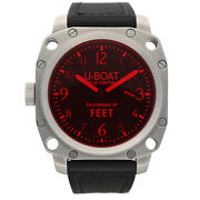 U-boat Thousands Of Feet 135.1176 Steel 50mm Leather Manual Wind Menand039s Watch