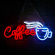 Coffee Real Glass Neon Signs Beer Bar Club Bedroom Hot Coffee Neon Lights For Of