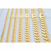 10k Yellow Gold Miami Cuban Royal Monaco Link Chain Necklace 6mm-20mm, 18- 30