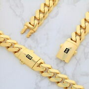 10k Yellow Gold Miami Cuban 13mm Royal Monaco Curb Link Chain Necklace 20- 30