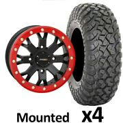 30 System3 Rt320 Tires 14 System3 Sb4 4+3 Wheels Red Can-am Maverick X3