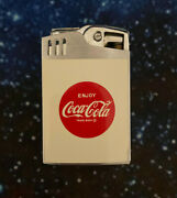 Rare Coca-cola Blue Bird Deluxe Lighter/music Box Made In Japan Plays Dixie