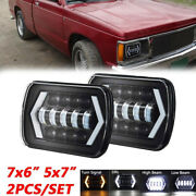 Pair For Jeep Cherokee Xj Chevy S10 Sonoma 7x6and039and039 Led Projector Headlight Hi/lo