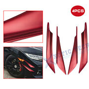 Front Bumper Lip Fins Canards Splitter Diffuser Valence Spoiler Chin Sporty Red