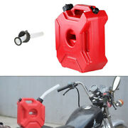 Motorcycle 5 L Plastic Jerry Cans Gas Diesel Fuel Tank Suv Atv Scooter With Lock
