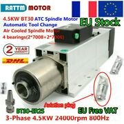 4.5kw Atc Bt30 380v Air Cooled Spindle Automatic Tool Changer Cnc Milling〖fr+de〗