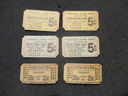 6 Original Fontaine Ferry Park Tickets Special Picnic, Trabant, Frontier Village