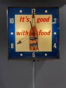Vintage Barq's Root Beer Pam Lighted Clock