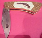 Franklin Mint The Official 1955 Colt Python 357 Magnum Collector Knife W/coa
