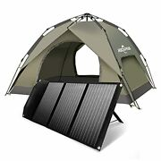 Rp082 100w Foldable Solar Panel Charger And Pop Up Family Camping Tents