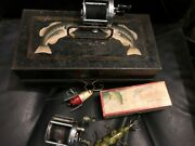 Rare Antique Metal Fishing Tackle Box Johnson Trayless Early 1900s Pls Read