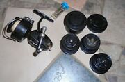 Vintage Garcia Mitchell 300 Fishing Spinning Reel + Parts, Made In France