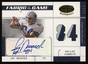 2003 Jay Novacek Leaf Certified Fabric Of The Game Patch Auto Autograph 75/84