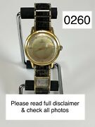 Vintage Gubelin 18k Solid Gold 34mm 21 Jewels Automatic Watch Runs And Keeps Time.