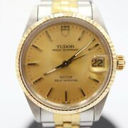 Auth Tudor Watch Oyster Date 72033 Automatic Case 31mm Arm17cm F/s