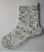 Handmade Holiday Quilted Christmas Stocking Vintage Look Old World Fully Lined