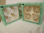 Vintage Christmas Glass Ornaments Victorian Roses Bells And Balls By Krebs 3 Boxes