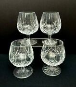 4 Waterford Lismore Brandy Balloon Snifter Crystal Set Signed 5 1/4 Vintage