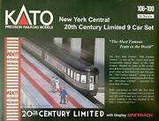 N Scale - Kato 106-100 New York Central 20th Century Limited 9-car Set N4865