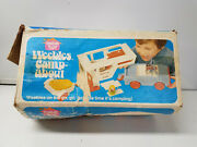 1972 Vtg Hasbro Weebles Camp-about Camper 5th Wheel W/ Box Boat Picnic Table