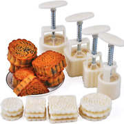 Powerking Hand-pressure Moon Cake Mould Cookie Stamps For Mid-autumn Festival 4