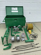 Greenlee 4000 Lbs Wire Cable Tugger Puller Set, Sheave, Bushing, Adapters
