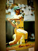 Signed 1969 Rookie Reggie Jackson Si Sports Illustrated Poster Psa/dna W/coa