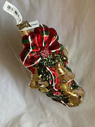Neiman Marcus 2018 Christmas Glass Ornament Made In Poland - Bow And Bells