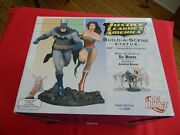 Justice League Of America Build A Scene Limited Statue Set Dc Direct 1, 2 And 3