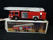 Vintage 1986 Hess Truck Toy Fire Truck Bank Hess Advertising Collectible