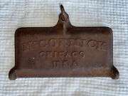 Antique Mccormick Chicago Tool Box Lid Cast Iron Tractor Mower Implement M539