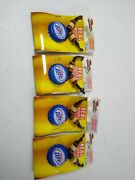 Lot Of 4 Miller Lite Beer Bottle Cap Necklace Wood Beads Cord Style New