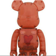 Be @ Rbrick Bearbrick Figure 1000% Emotionally Unavalable Clear Red Heart