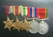 Ww2 South African Fighter Pilot Medal Group Shot Down By Top German Ace 1942