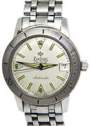 Zodiac Sea Wolf Steel Date Silver Dial Mens 35mm Automatic Vintage Watch +box